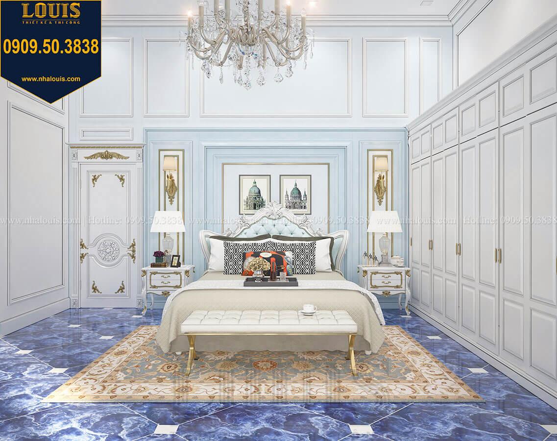 Phòng ngủ con trai Biệt thự 1 trệt 1 lầu tân cổ điển chọn xanh dương làm tone màu chủ đạo rất mát mắt và bình yên - 35