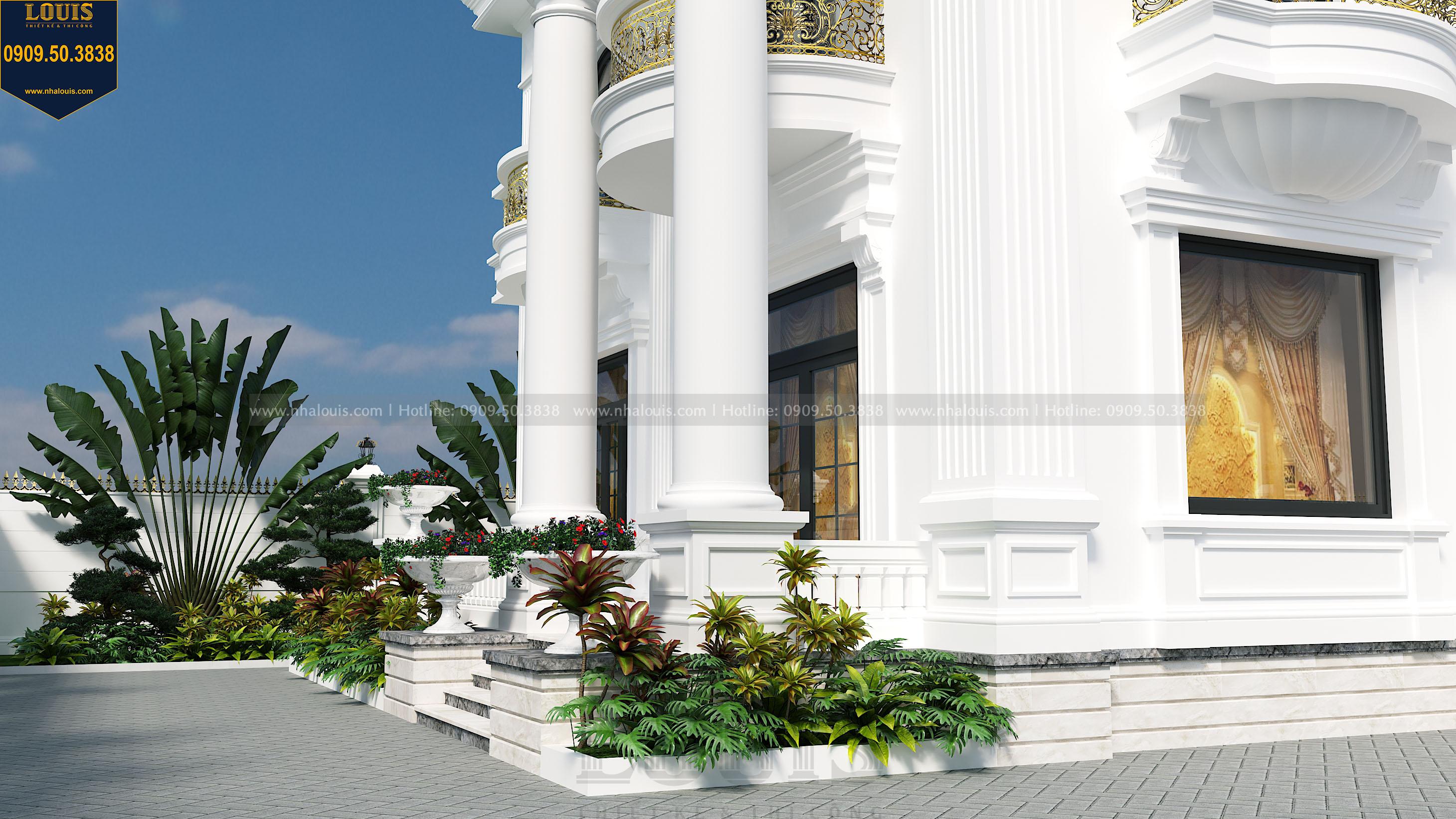 thiết kế cây kiểng cho nhà biệt thự