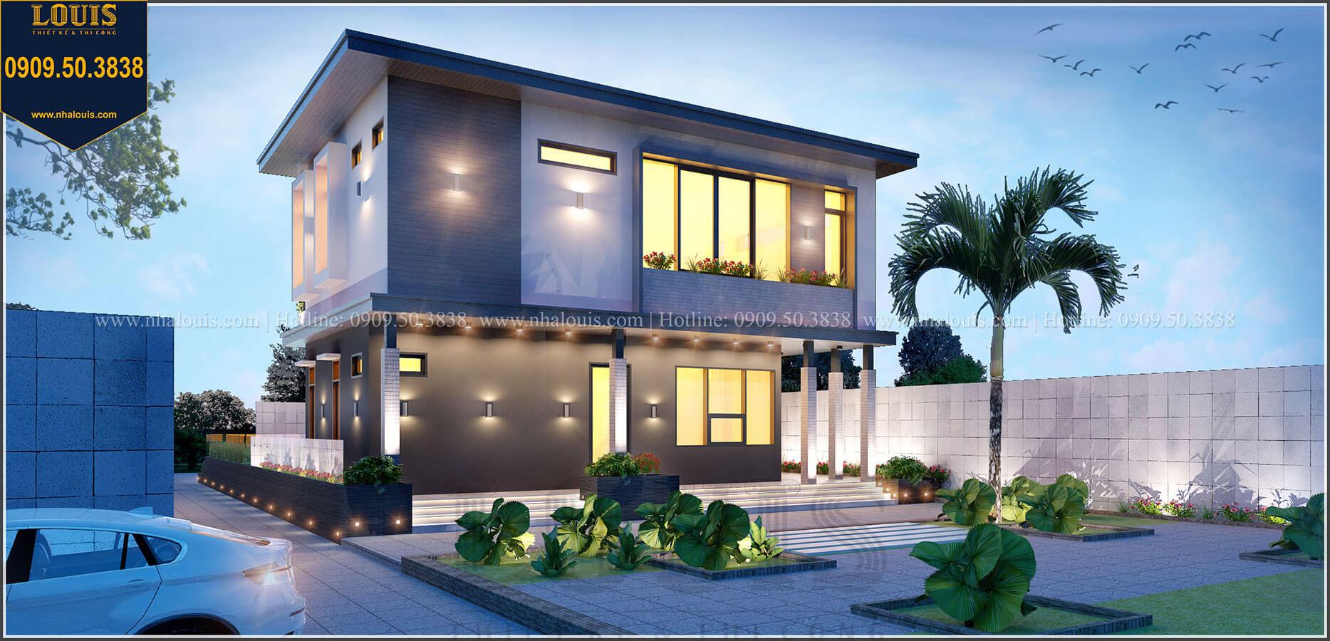 Mặt tiền Biệt thự 2 tầng hiện đại mặt tiền 13.5m sang chảnh tại Kiên Giang - 04