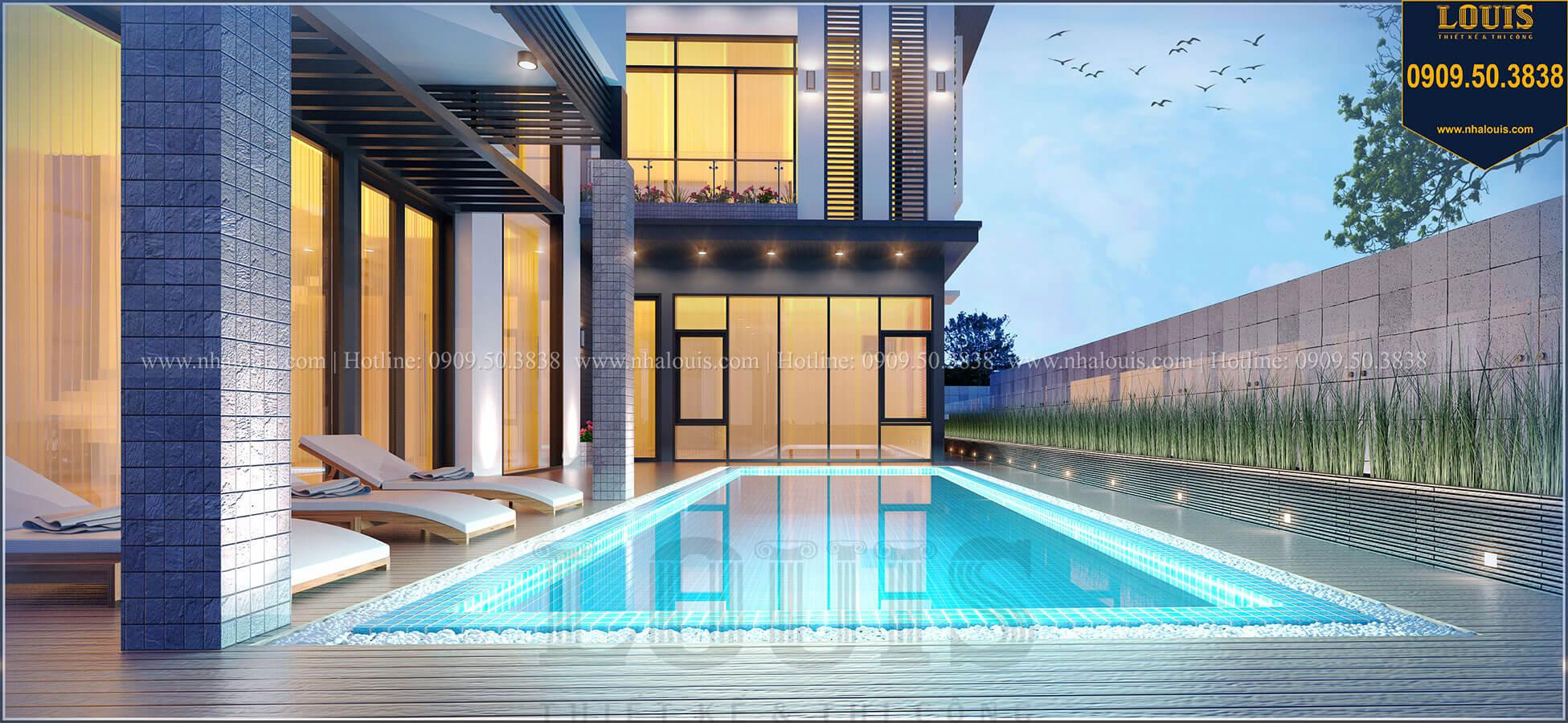 Mặt tiền Biệt thự 2 tầng hiện đại mặt tiền 13.5m sang chảnh tại Kiên Giang - 05