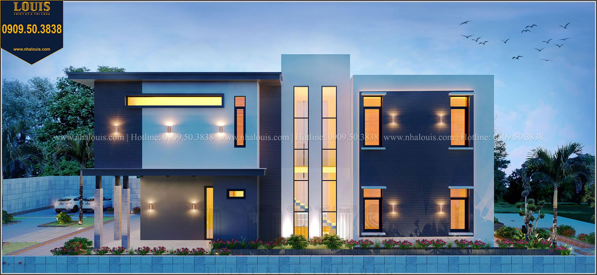 Mặt tiền Biệt thự 2 tầng hiện đại mặt tiền 13.5m sang chảnh tại Kiên Giang - 06