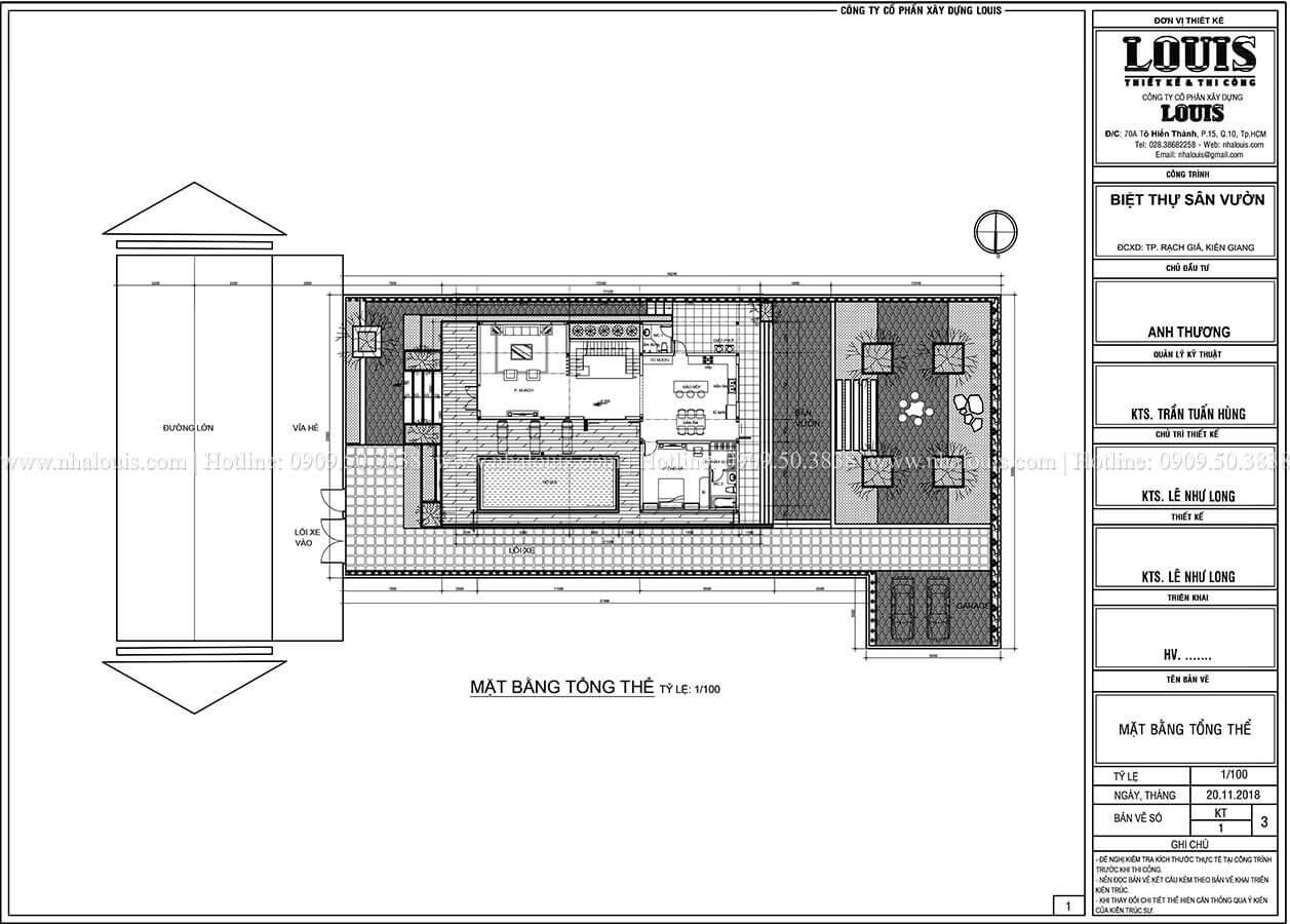 Mặt bằng tổng thể Biệt thự 2 tầng hiện đại mặt tiền 13.5m sang chảnh tại Kiên Giang - 07