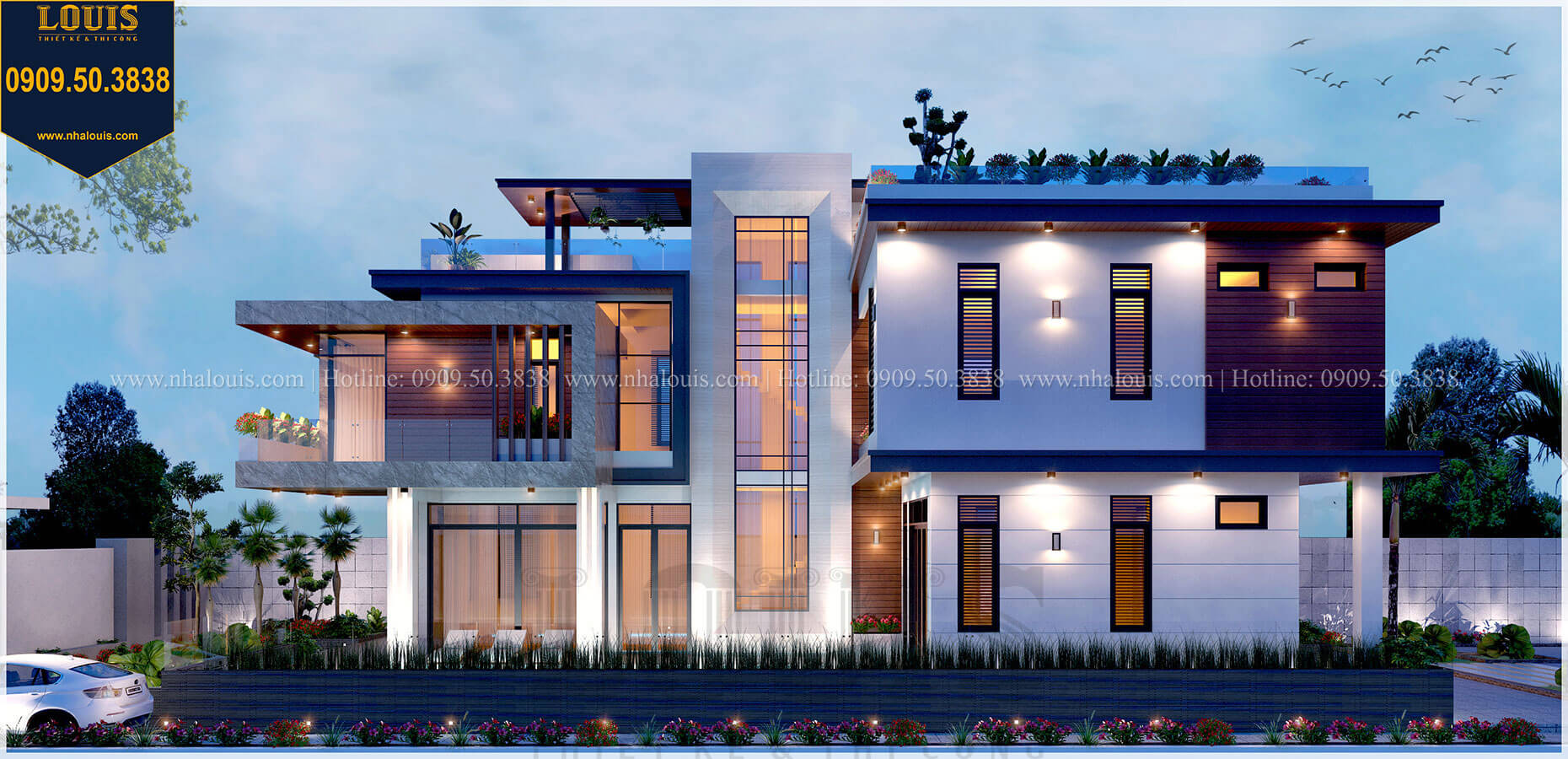 Mặt bằng 1 Biệt thự 2 tầng hiện đại mặt tiền 13.5m sang chảnh tại Kiên Giang - 11