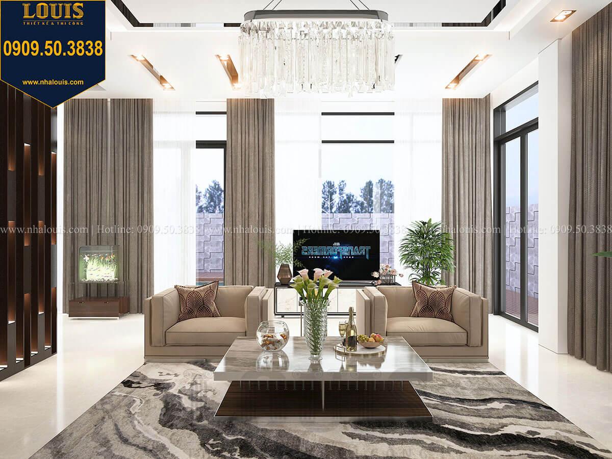 Phòng khách Biệt thự 2 tầng hiện đại mặt tiền 13.5m sang chảnh tại Kiên Giang - 17