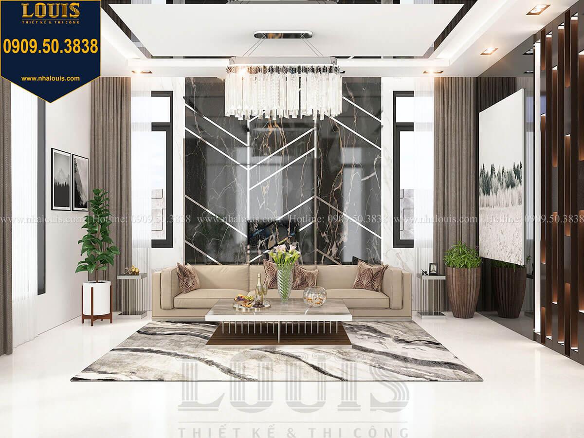 Phòng khách Biệt thự 2 tầng hiện đại mặt tiền 13.5m sang chảnh tại Kiên Giang - 18