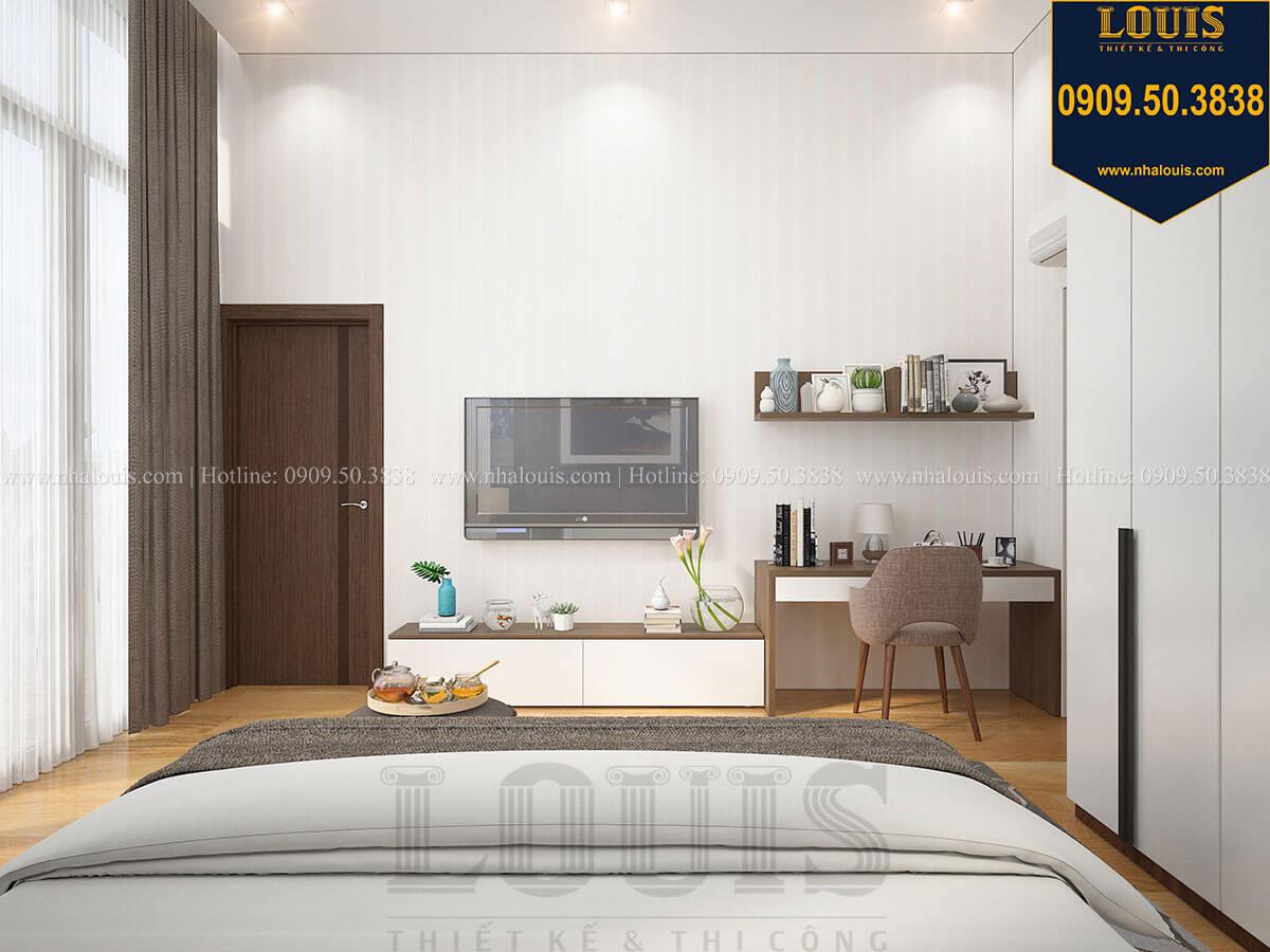 Phòng ngủ ông bà Biệt thự 2 tầng hiện đại mặt tiền 13.5m sang chảnh tại Kiên Giang - 26