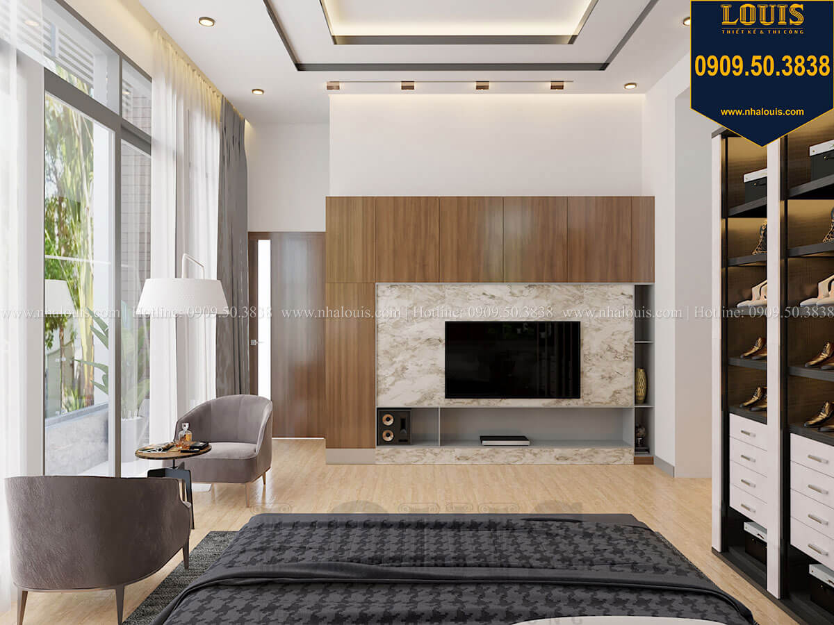 Phòng ngủ master Biệt thự 2 tầng hiện đại mặt tiền 13.5m sang chảnh tại Kiên Giang - 31