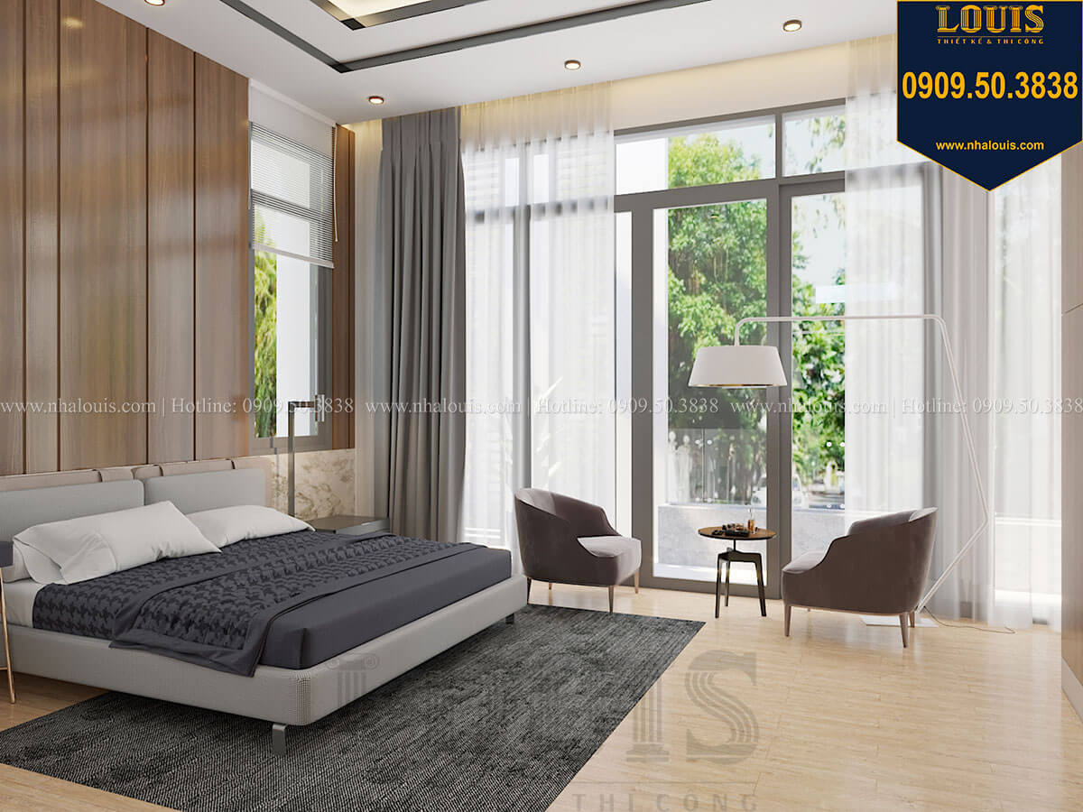 Phòng ngủ master Biệt thự 2 tầng hiện đại mặt tiền 13.5m sang chảnh tại Kiên Giang - 35