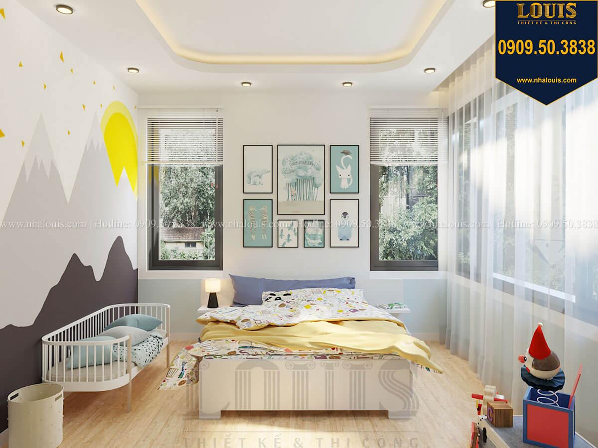 Phòng ngủ bé trai Biệt thự 2 tầng hiện đại mặt tiền 13.5m sang chảnh tại Kiên Giang - 37