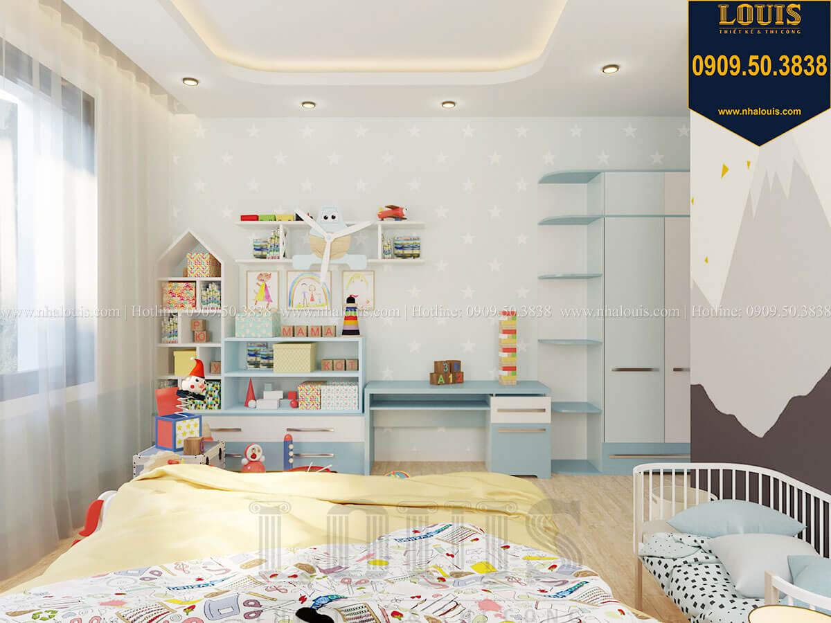Phòng ngủ bé trai Biệt thự 2 tầng hiện đại mặt tiền 13.5m sang chảnh tại Kiên Giang - 38