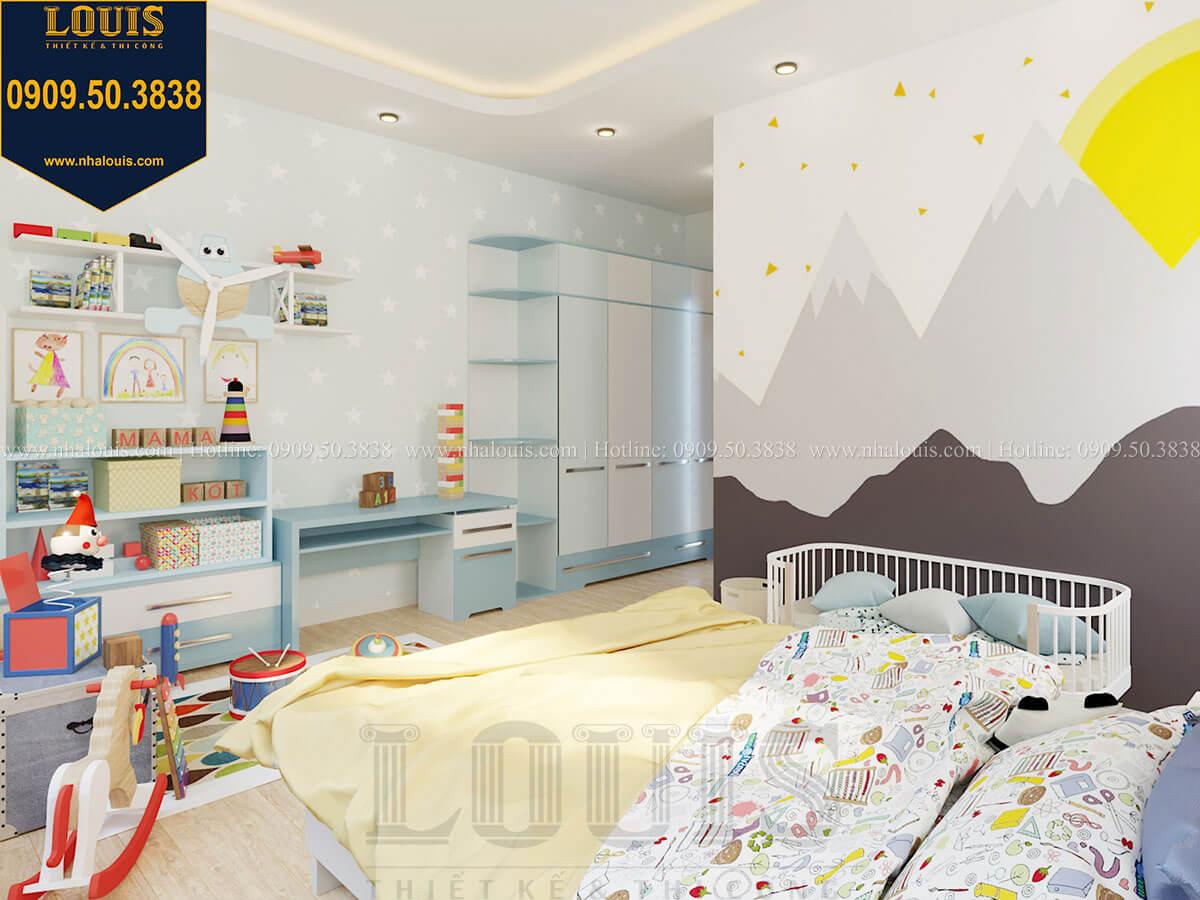 Phòng ngủ bé trai Biệt thự 2 tầng hiện đại mặt tiền 13.5m sang chảnh tại Kiên Giang - 39