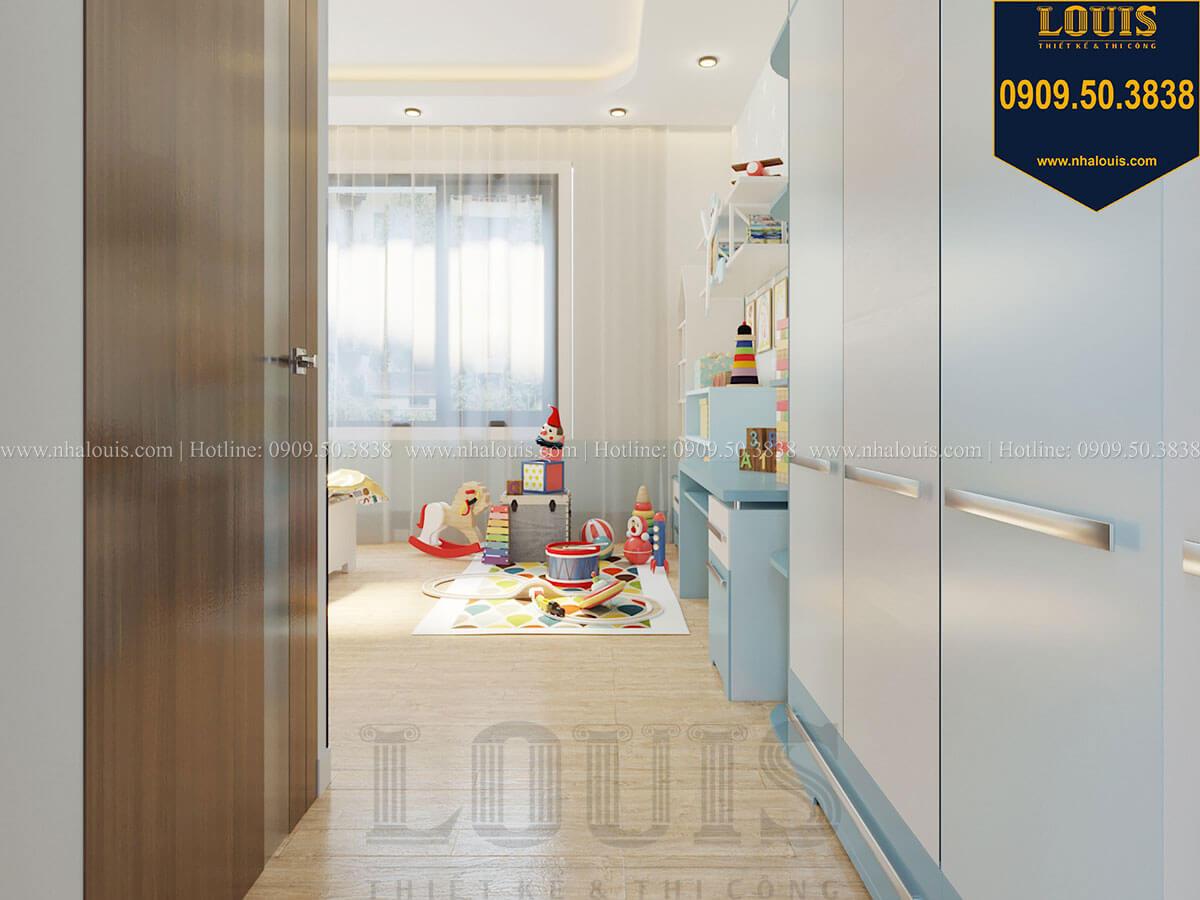 Phòng ngủ bé trai Biệt thự 2 tầng hiện đại mặt tiền 13.5m sang chảnh tại Kiên Giang - 40