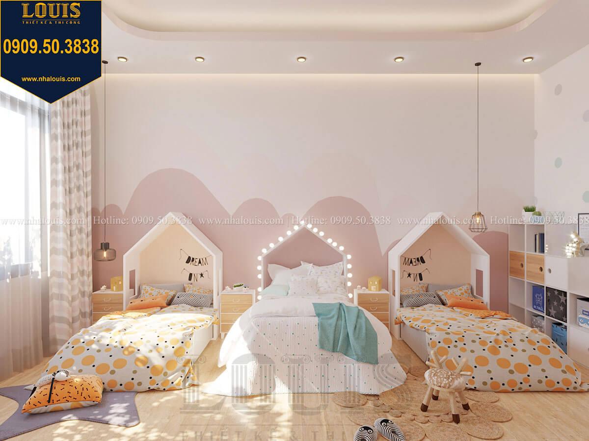 Phòng ngủ bé gái Biệt thự 2 tầng hiện đại mặt tiền 13.5m sang chảnh tại Kiên Giang - 41