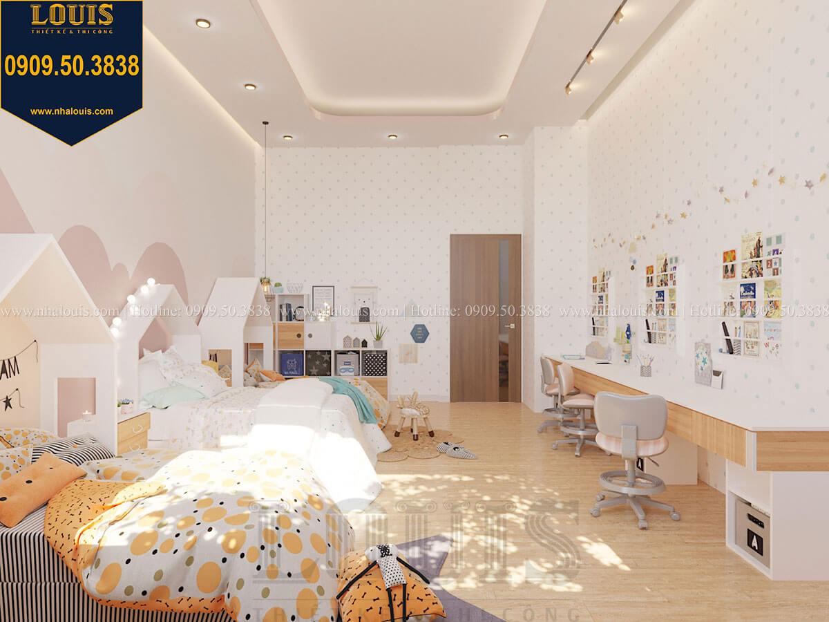 Phòng ngủ bé gái Biệt thự 2 tầng hiện đại mặt tiền 13.5m sang chảnh tại Kiên Giang - 43