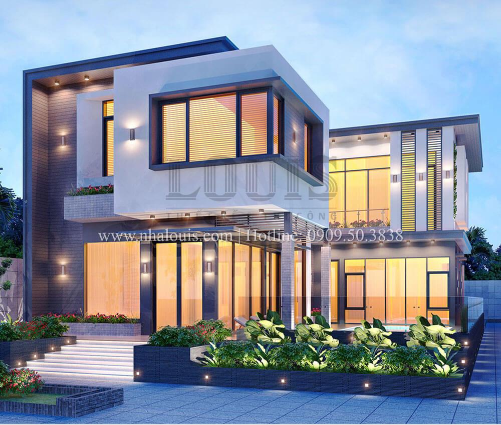 Mặt tiền Biệt thự 2 tầng hiện đại mặt tiền 13.5m sang chảnh tại Kiên Giang