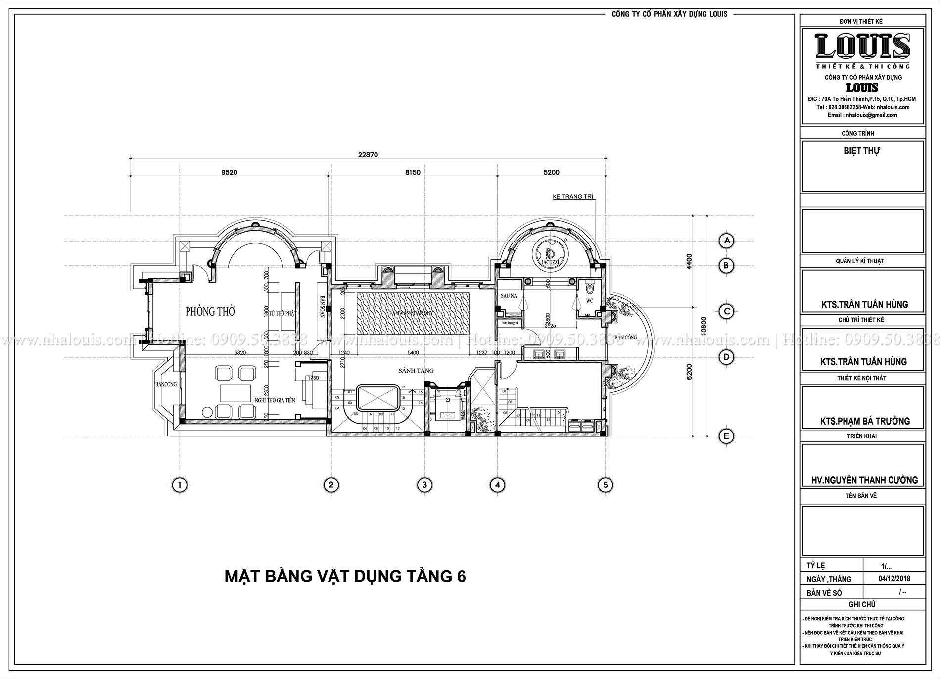 Biệt thự cổ điển 8 tầng nguy nga và tráng lệ tại TPHCM