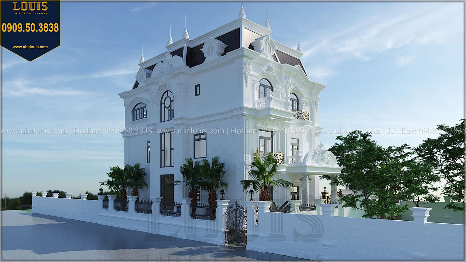 Mặt tiền Biệt thự đẹp 3 tầng phong cách cổ điển bề thế tại Quảng Ngãi - 04