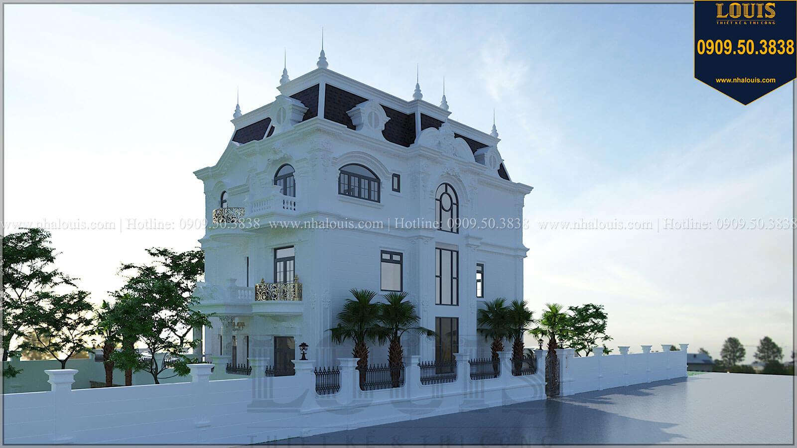 Mặt tiền Biệt thự đẹp 3 tầng phong cách cổ điển bề thế tại Quảng Ngãi - 05