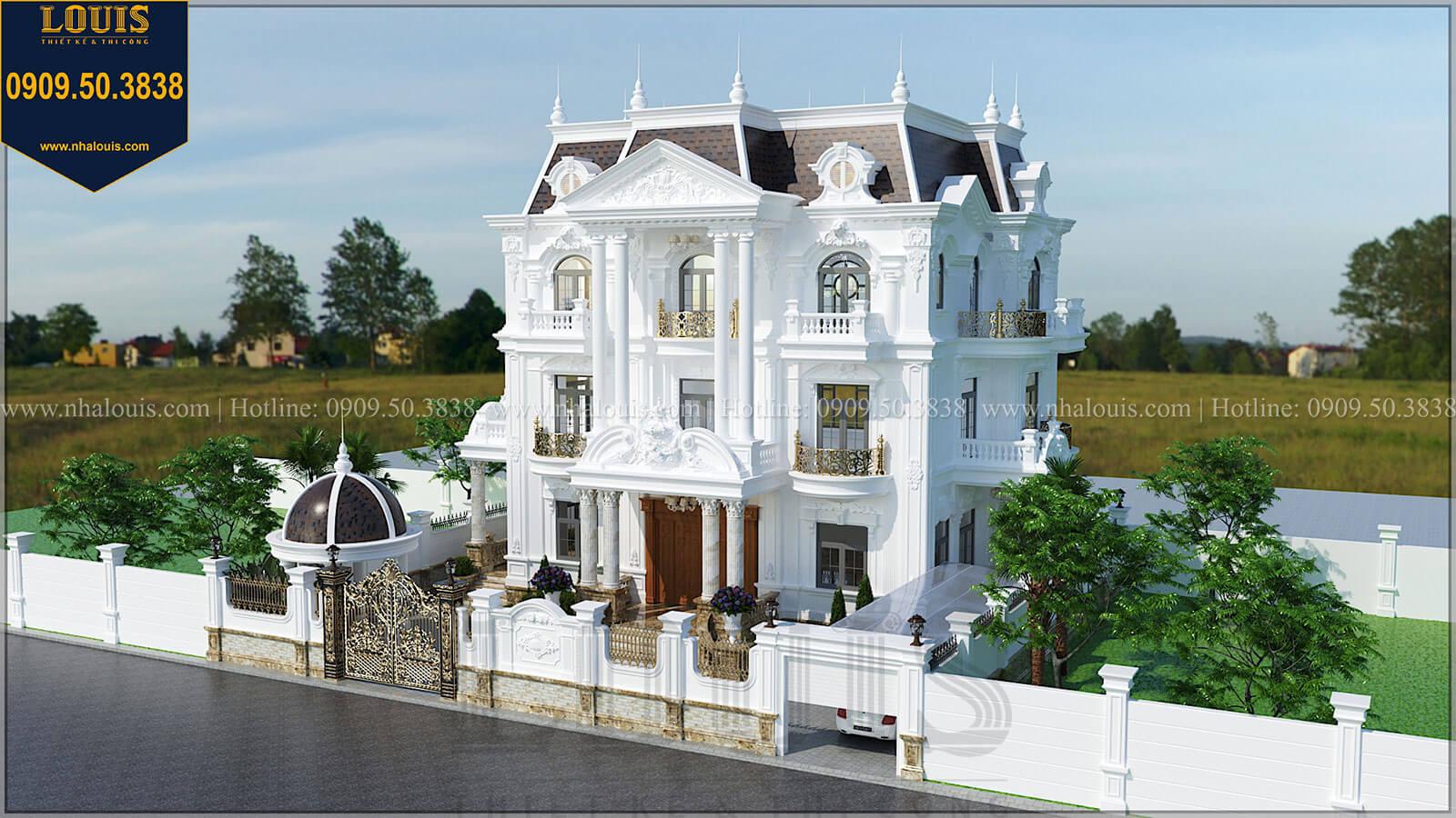 Mặt tiền Biệt thự đẹp 3 tầng phong cách cổ điển bề thế tại Quảng Ngãi - 06