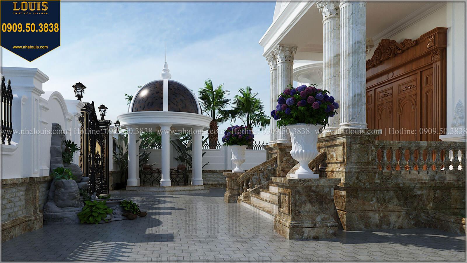 Sân vườn Biệt thự đẹp 3 tầng phong cách cổ điển bề thế tại Quảng Ngãi - 08