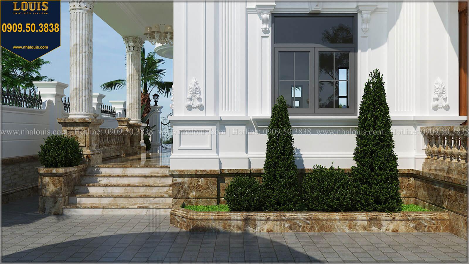Sân vườn Biệt thự đẹp 3 tầng phong cách cổ điển bề thế tại Quảng Ngãi - 10