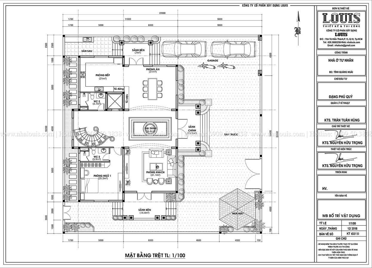 Biệt thự đẹp 3 tầng phong cách cổ điển bề thế tại Quảng Ngãi - 11