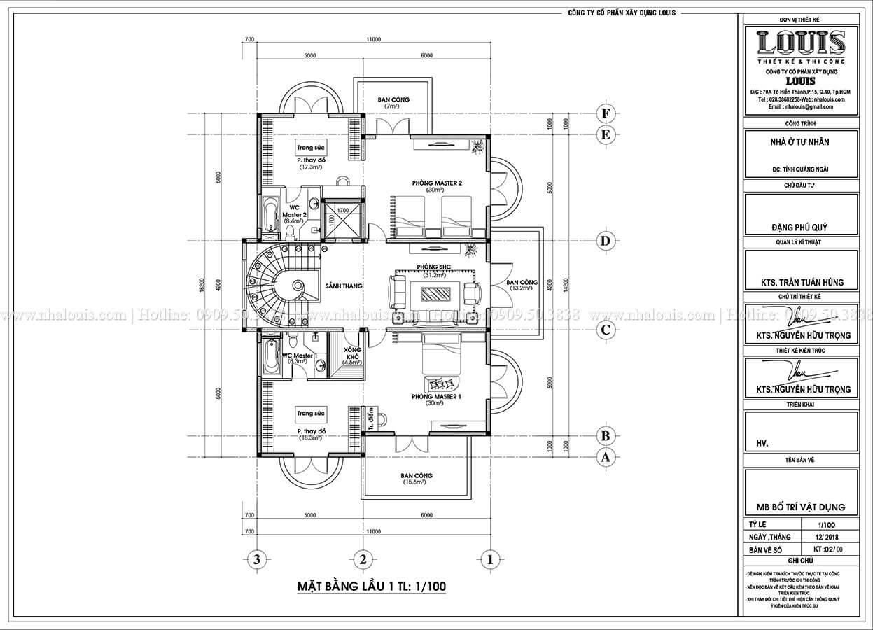 Biệt thự đẹp 3 tầng phong cách cổ điển bề thế tại Quảng Ngãi - 12