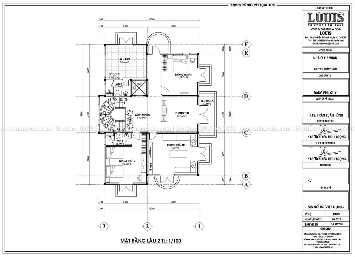 Biệt thự đẹp 3 tầng phong cách cổ điển bề thế tại Quảng Ngãi - 13