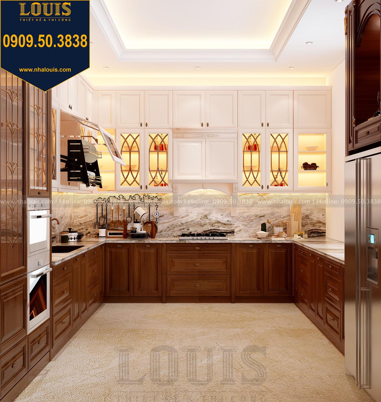 Phòng bếp biệt thự 3 tầng phong cách cổ điển view 1