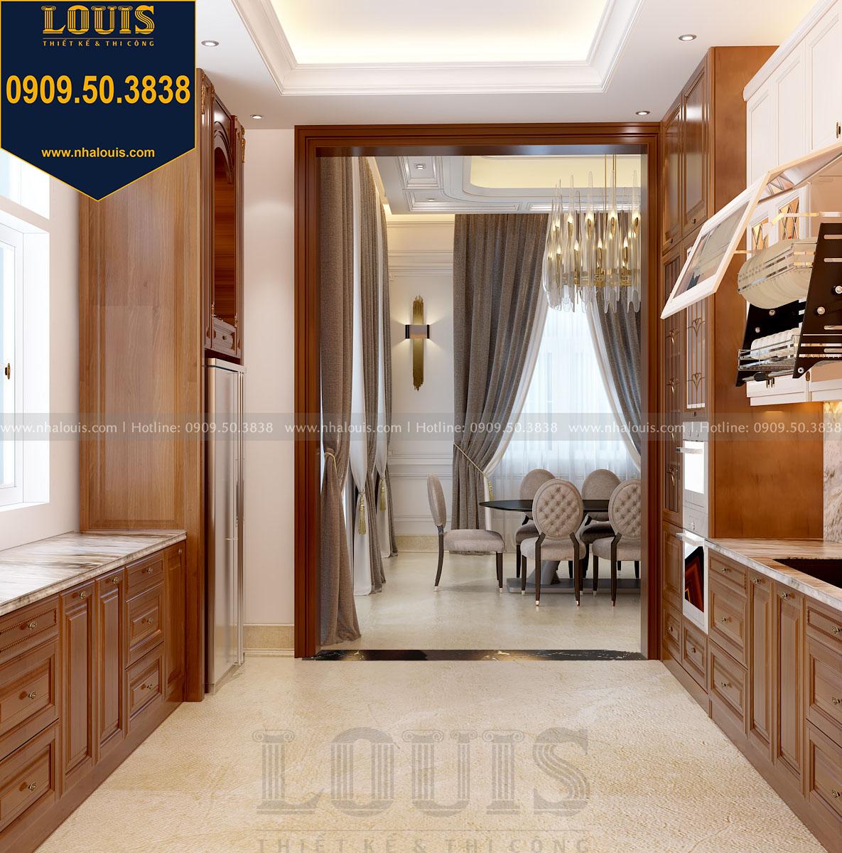 Phòng bếp biệt thự 3 tầng phong cách cổ điển view 2