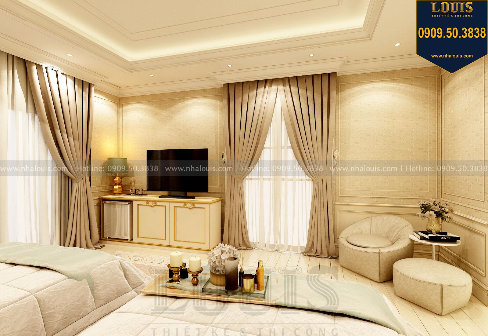 Phòng ngủ master 01 biệt thự 3 tầng