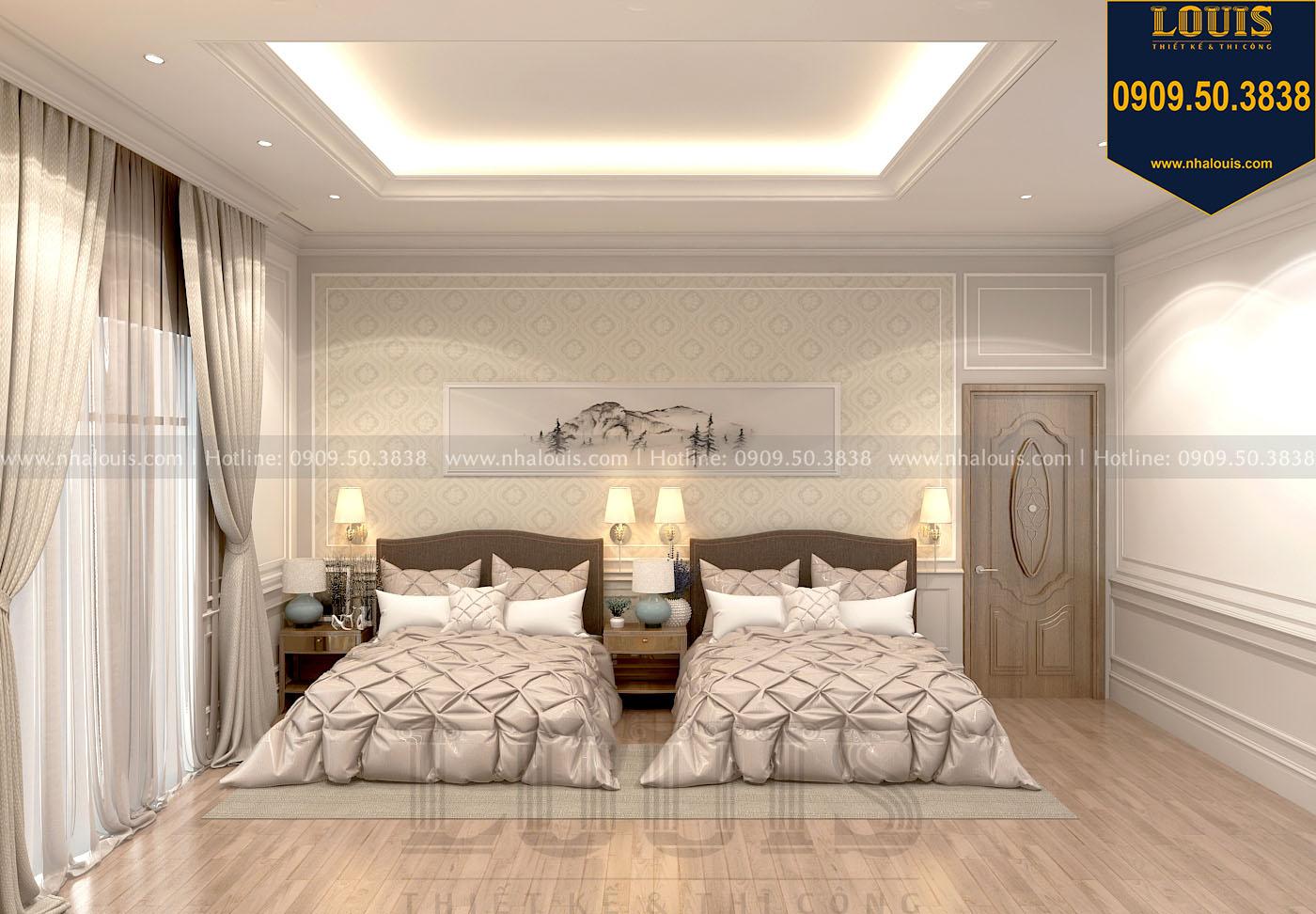 Phòng ngủ master 02 biệt thự 3 tầng