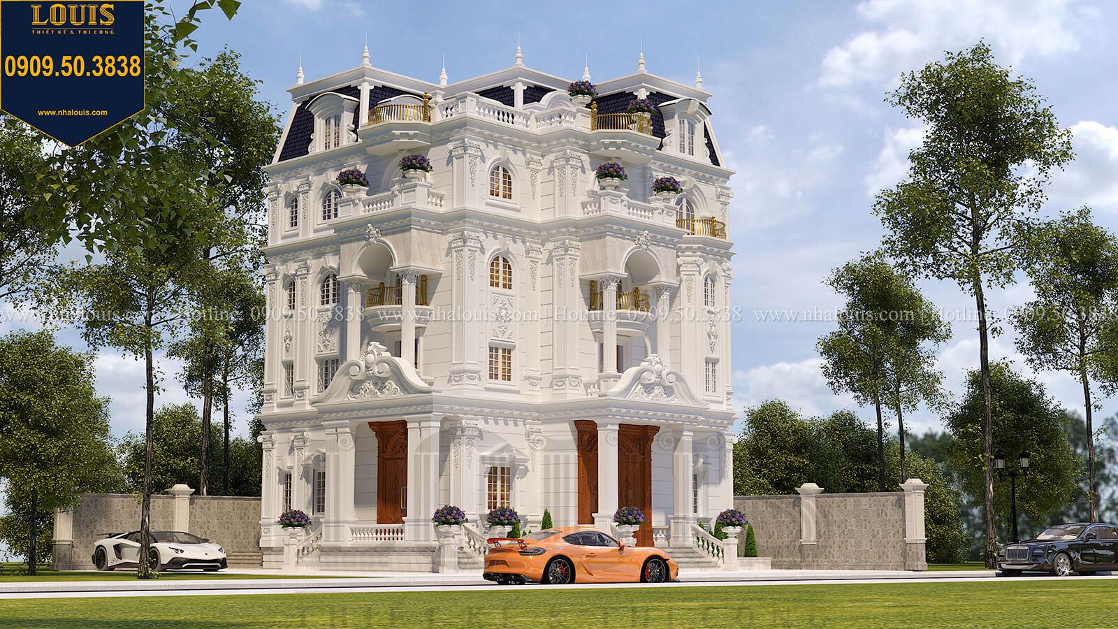Top 10 mẫu biệt thự cổ điển đẹp hút hồn năm 2018