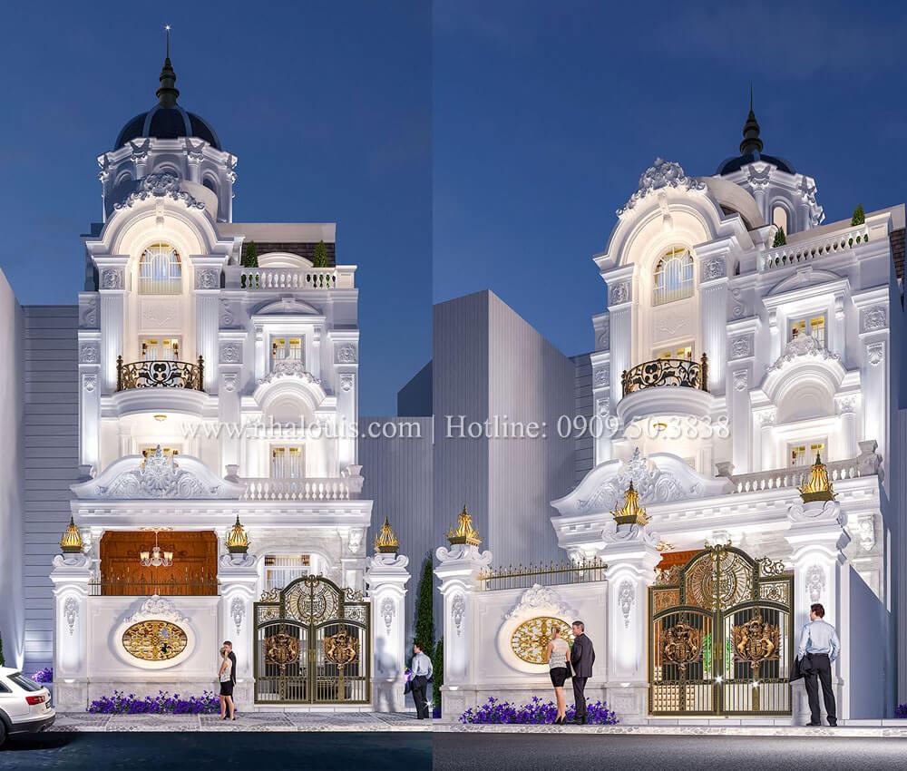 Biệt thự 5 tầng cổ điển đẹp hút mắt tại Tân Phú