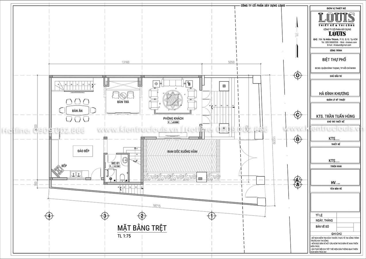 Biệt thự 5 tầng tân cổ điển đẹp mê hoặc tại Bình Thạnh