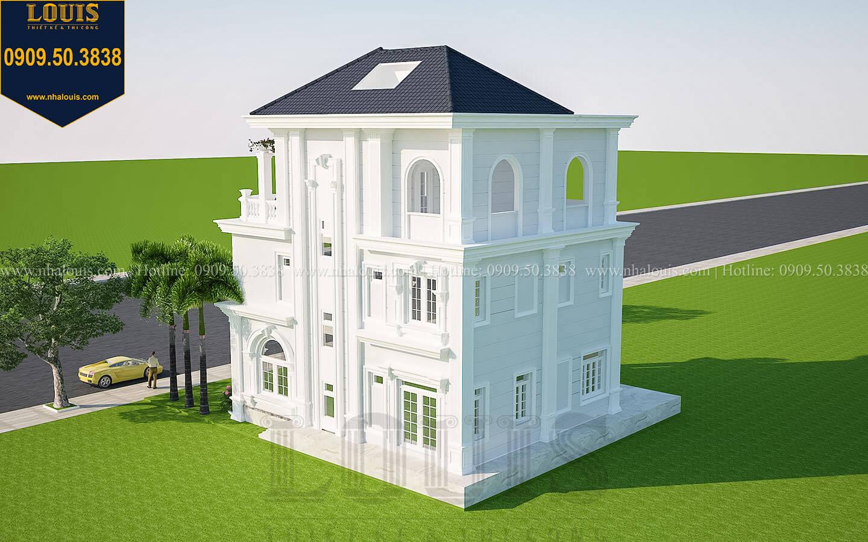Mặt tiền Thiết kế biệt thự tân cổ điển 3 tầng đẹp thơ mộng tại Vũng Tàu - 04