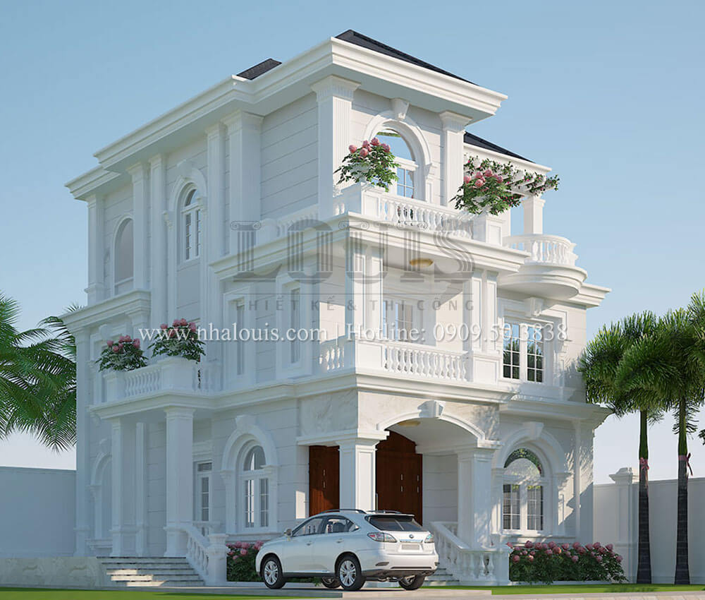 Thiết kế biệt thự tân cổ điển 3 tầng đẹp thơ mộng tại Vũng Tàu