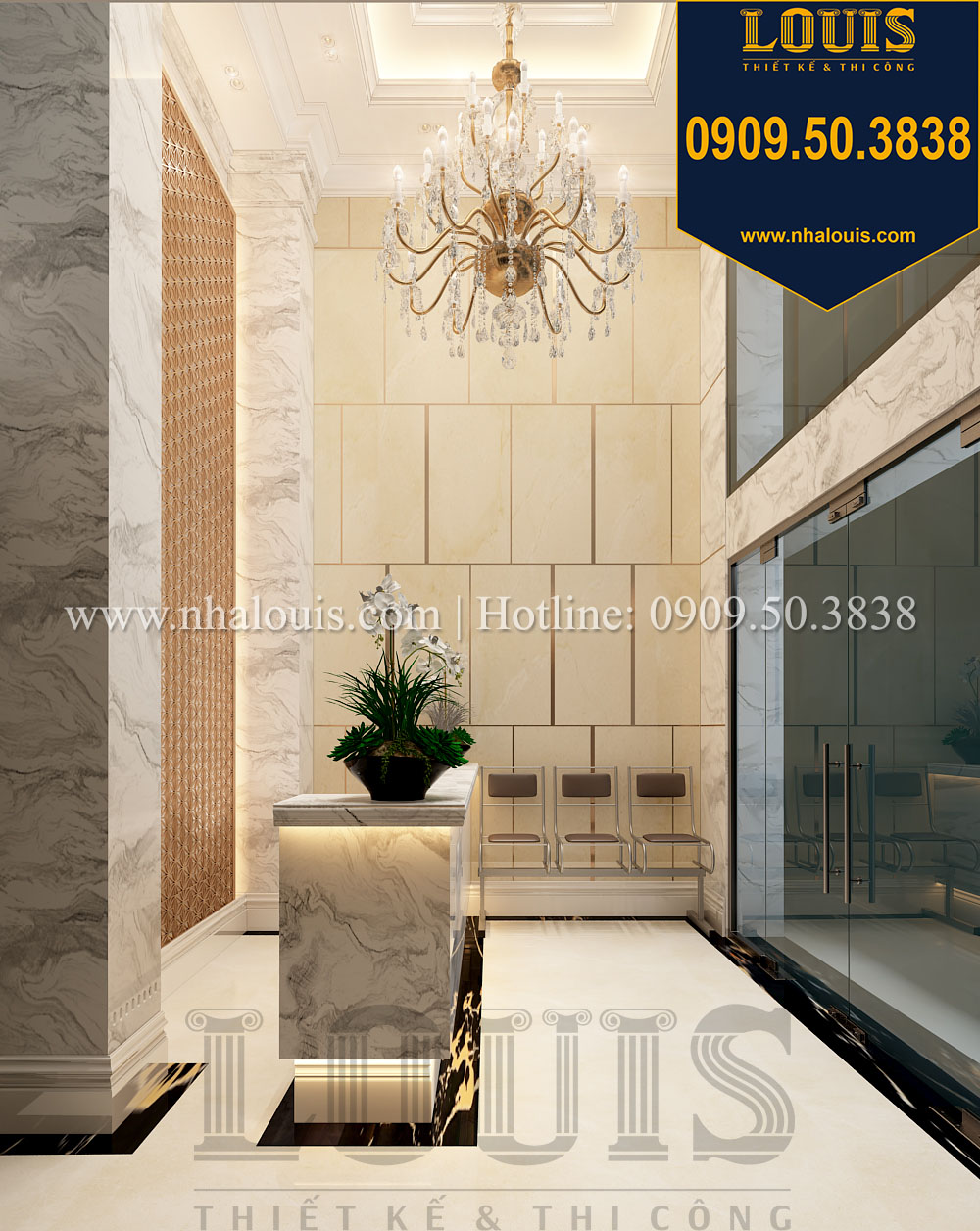 F5 không gian với thiết kế nội thất nhà phố kết hợp văn phòng kiểu Ý tại Quận 10