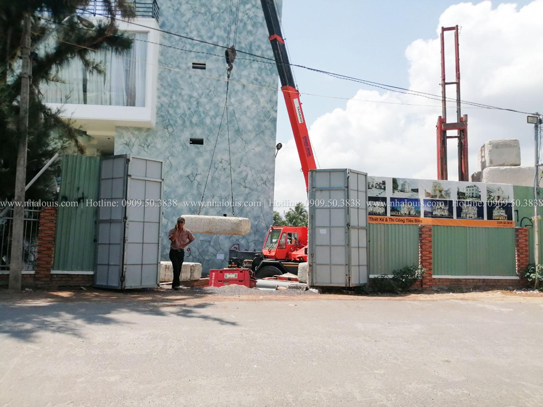 Hình ảnh thi công ép cọc tại dự án Nha Trang
