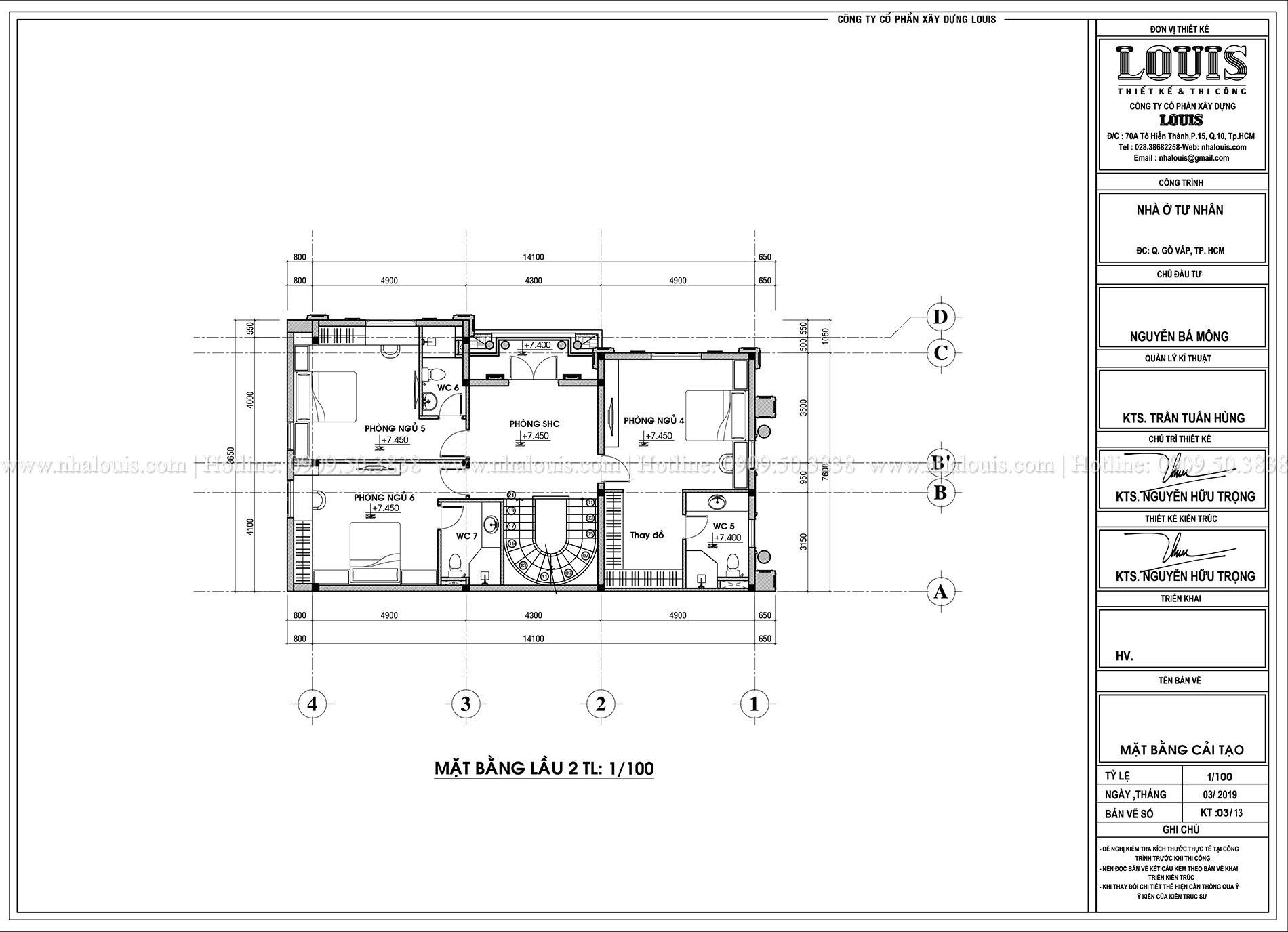 Thiết kế cải tạo biệt thự 4 tầng đẹp ngỡ ngàng tại Quận Gò Vấp