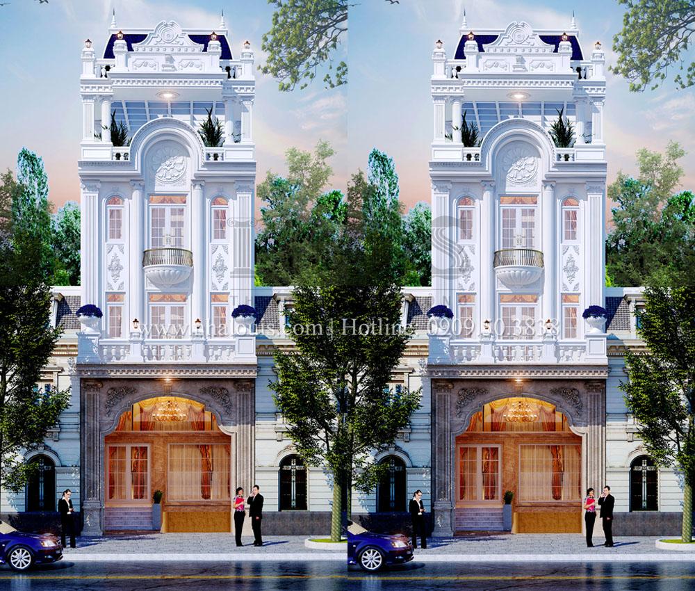 Nhà phố mặt tiền 6m phong cách tân cổ điển sang chảnh tại Quận 7