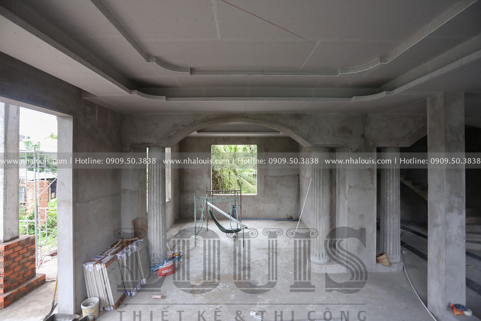 Thi công biệt thự 1 trệt 1 lầu tân cổ điển tại Tiền Giang