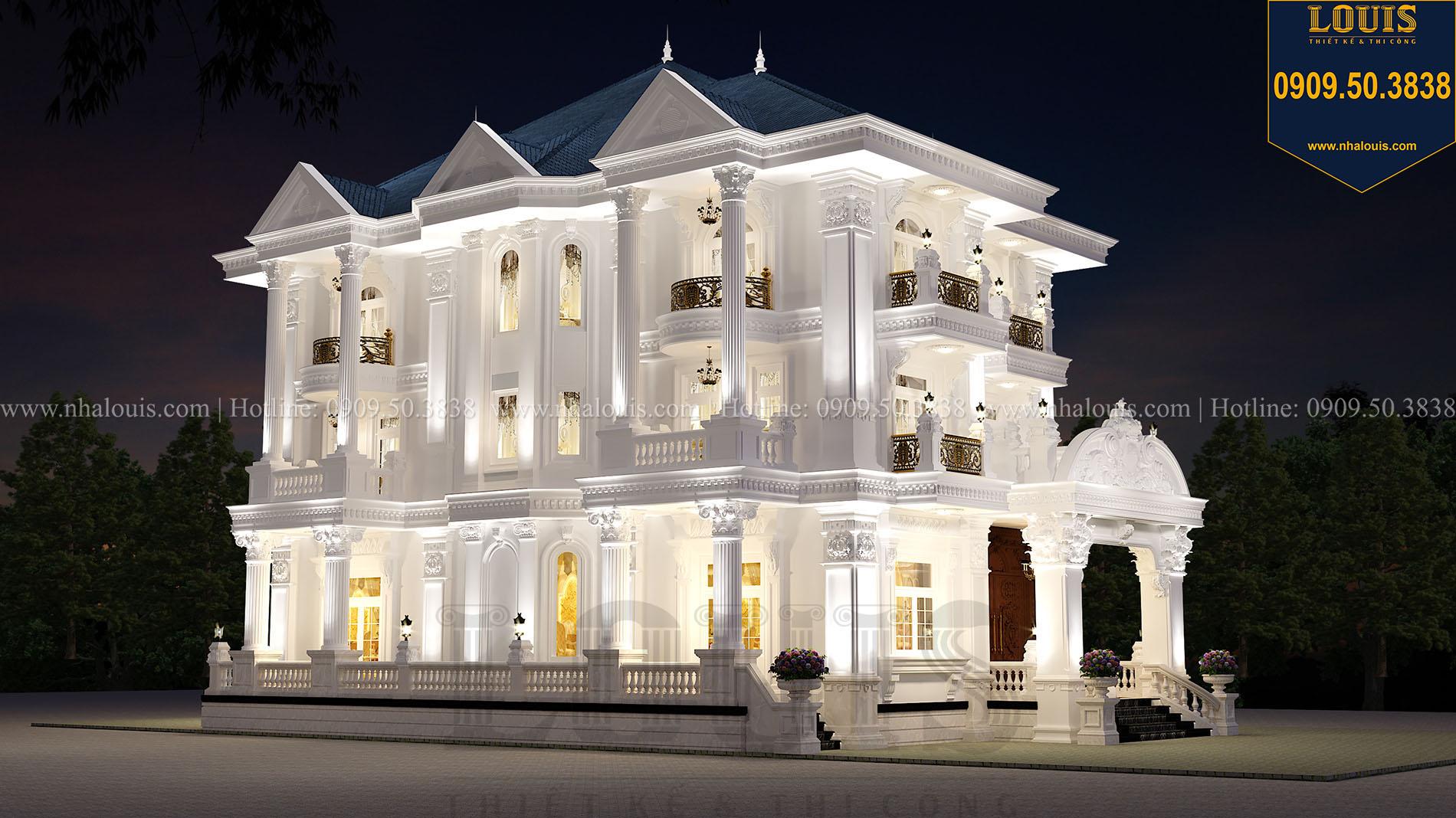 Mặt tiền biệt thự cổ điển mái Thái