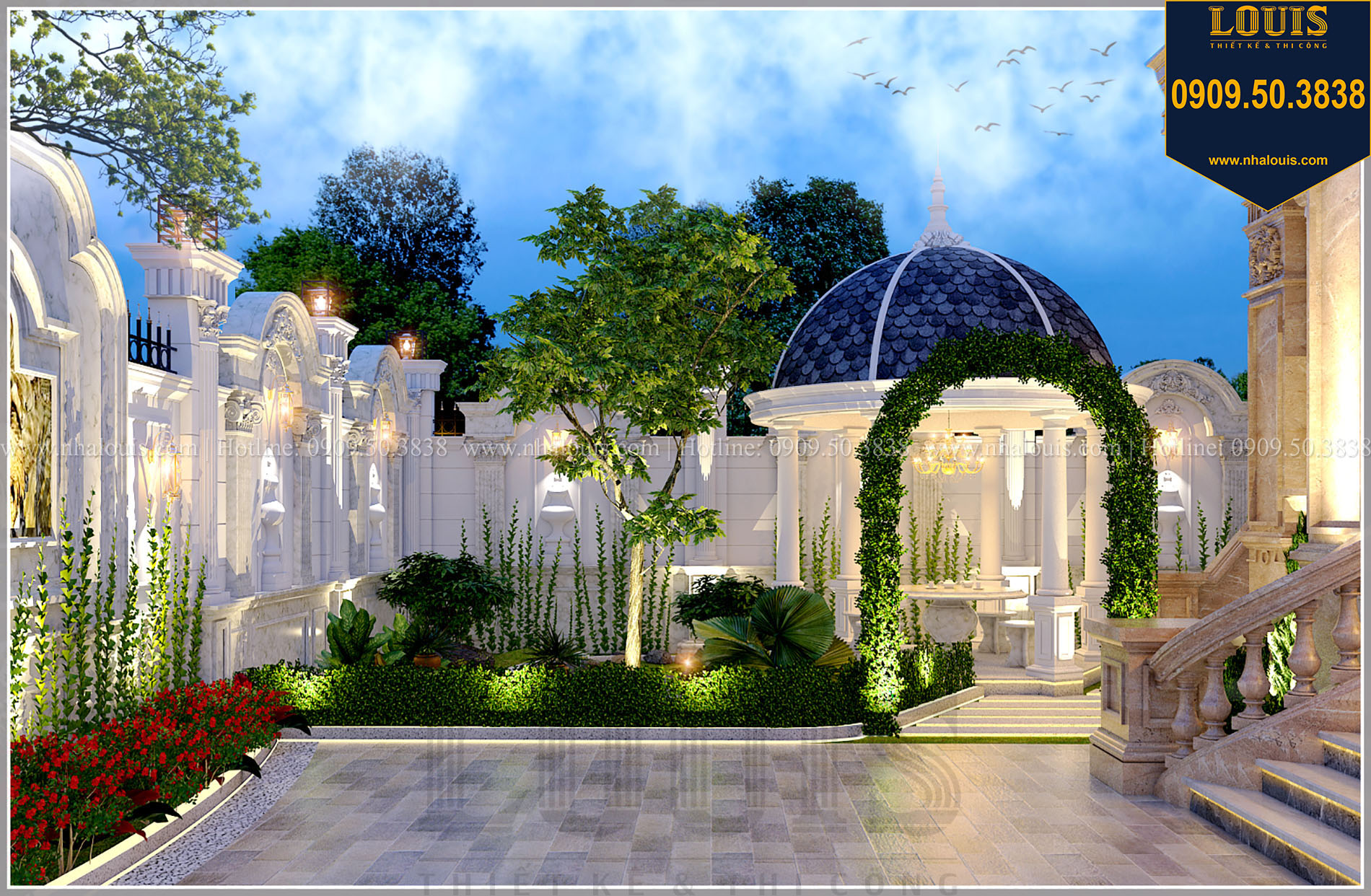 Phối cảnh Sân vườn biệt thự