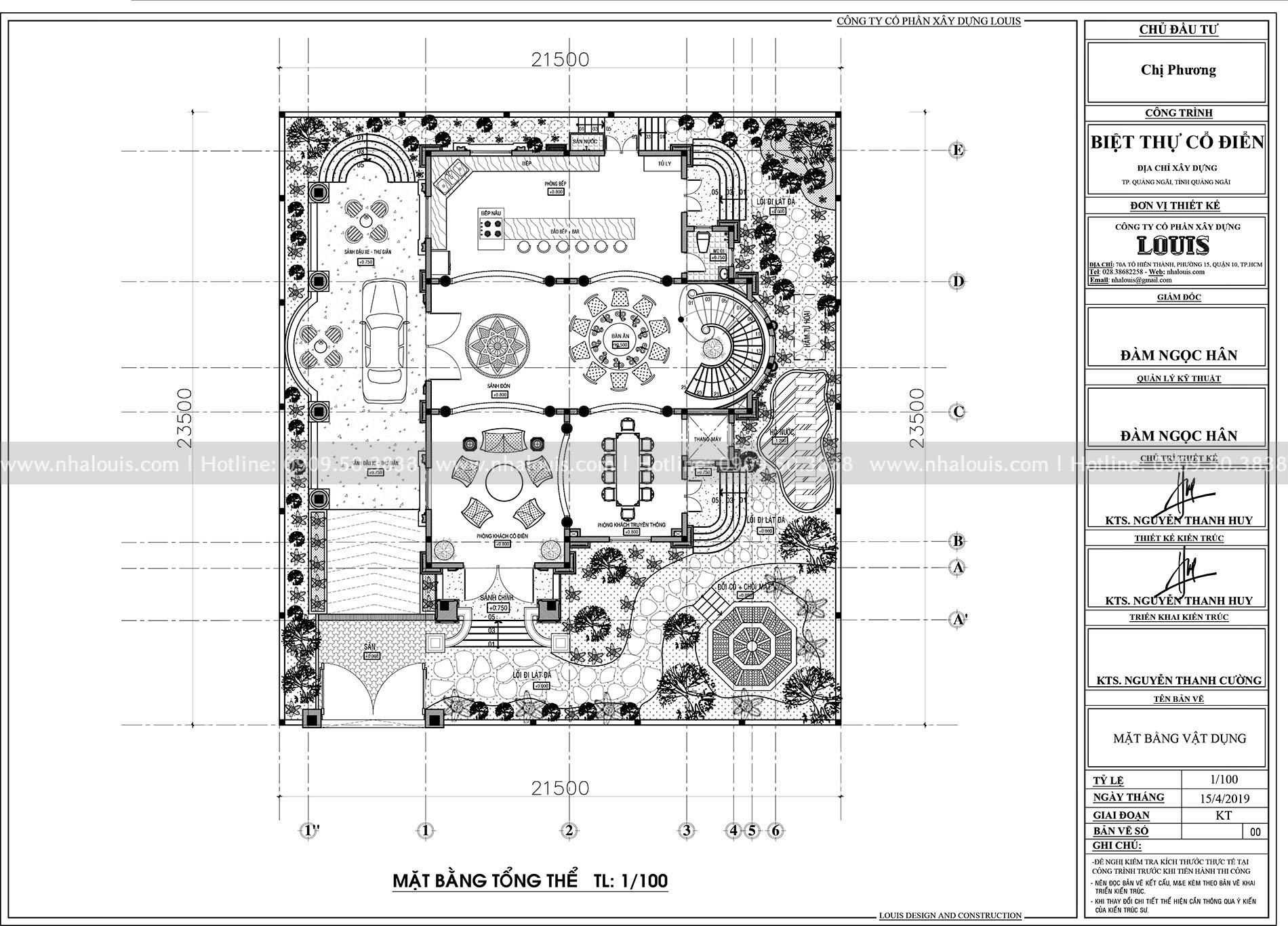 Biệt thự 3 tầng tân cổ điển tại Quảng Nam đón đầu xu hướng thiết kế 2019