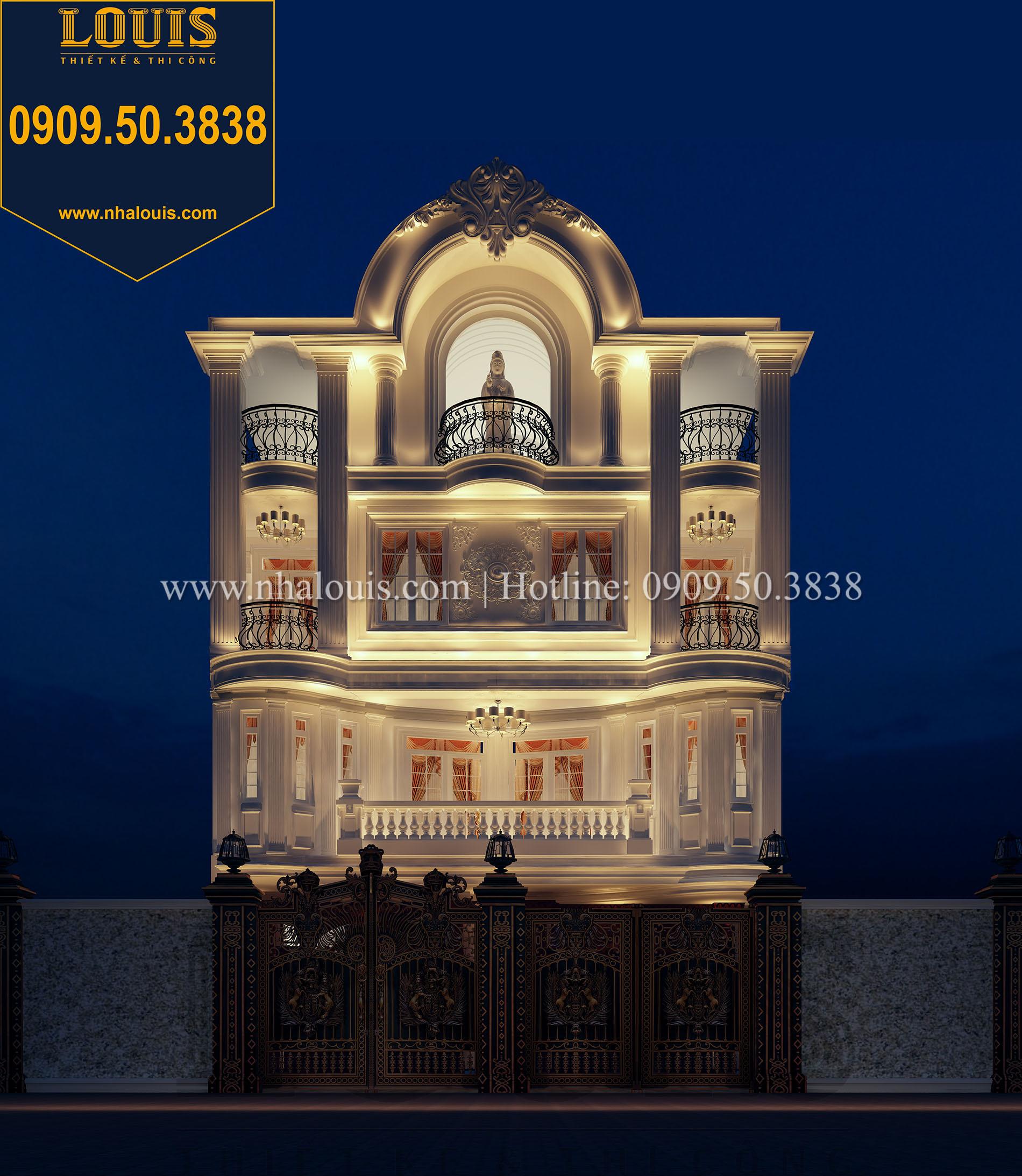 Mặt tiền Thiết kế biệt thự tân cổ điển 4 lầu đẹp quý phái tại Tân Phú - 02