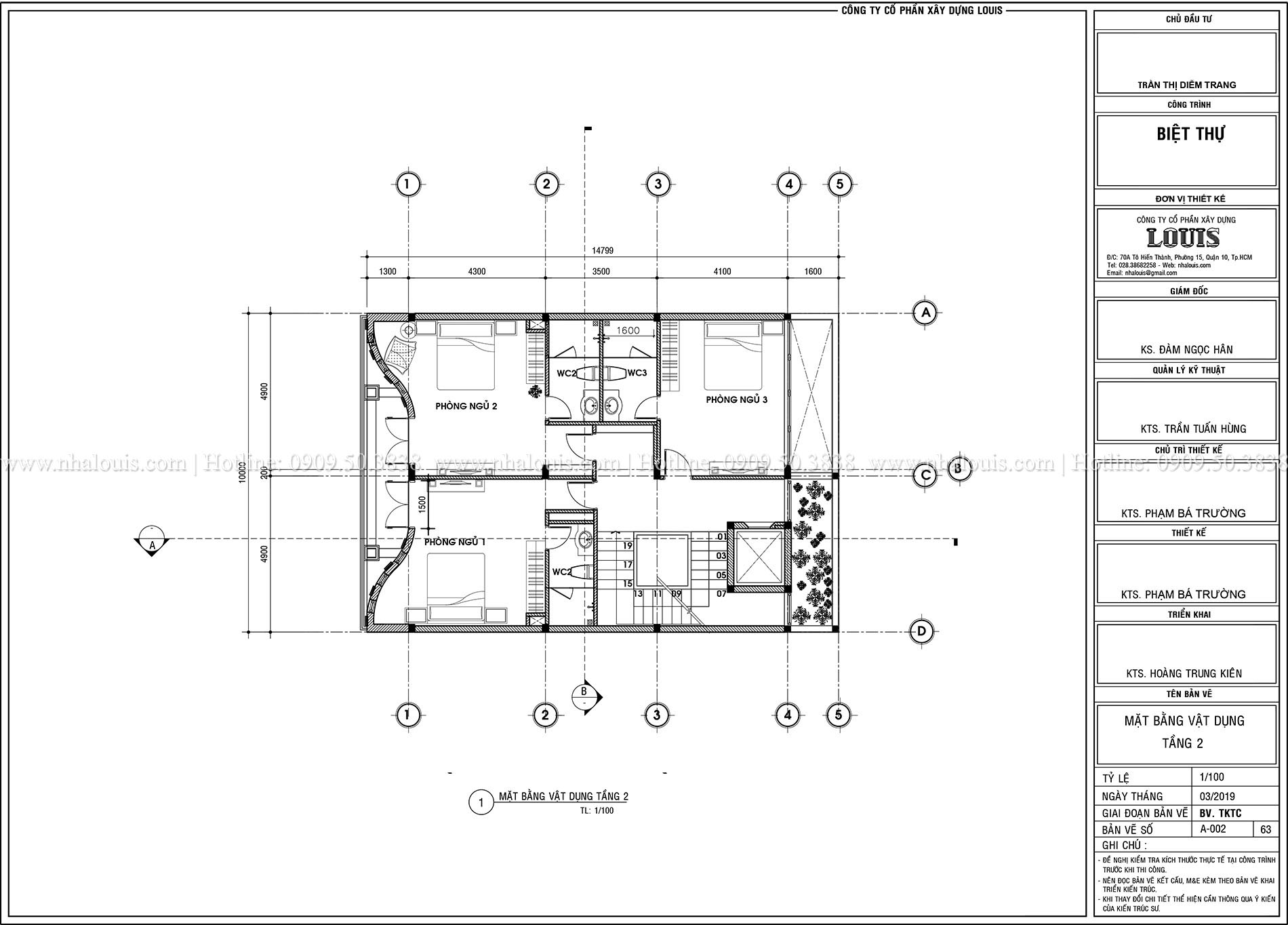 Mặt tbằng tầng 1 Thiết kế biệt thự tân cổ điển 4 lầu đẹp quý phái tại Tân Phú - 04