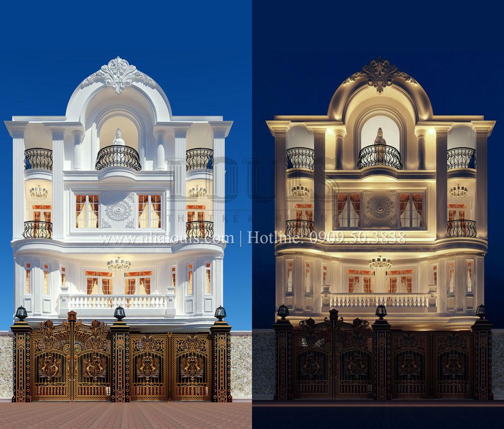 Thiết kế biệt thự tân cổ điển 4 lầu đẹp quý phái tại Tân Phú