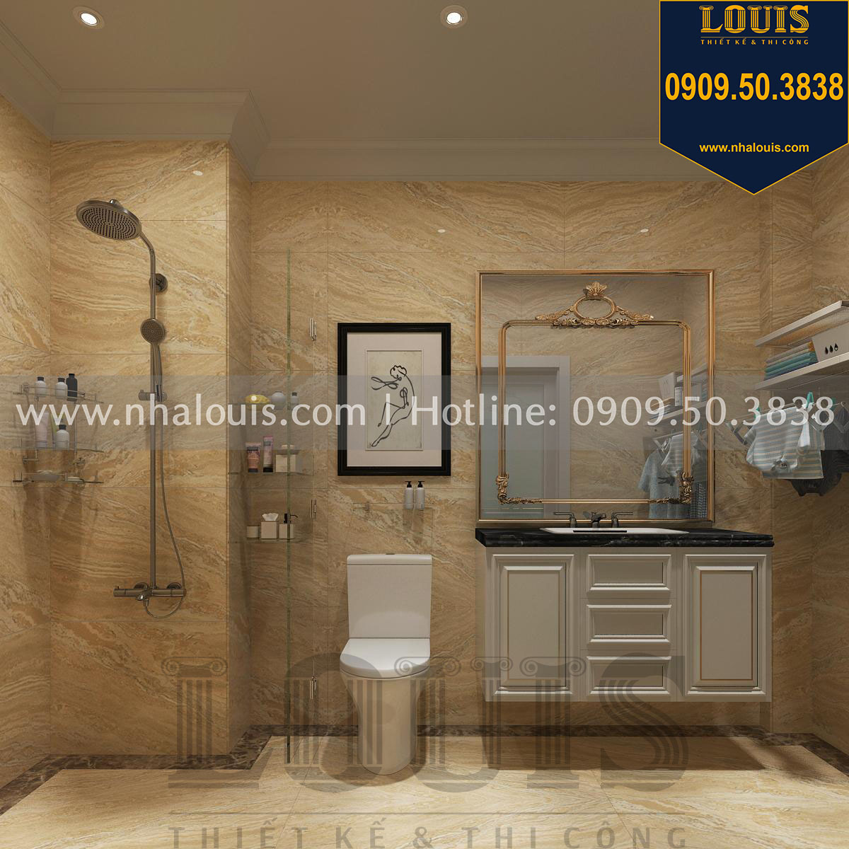 Thiết kế WC phòng ngủ master
