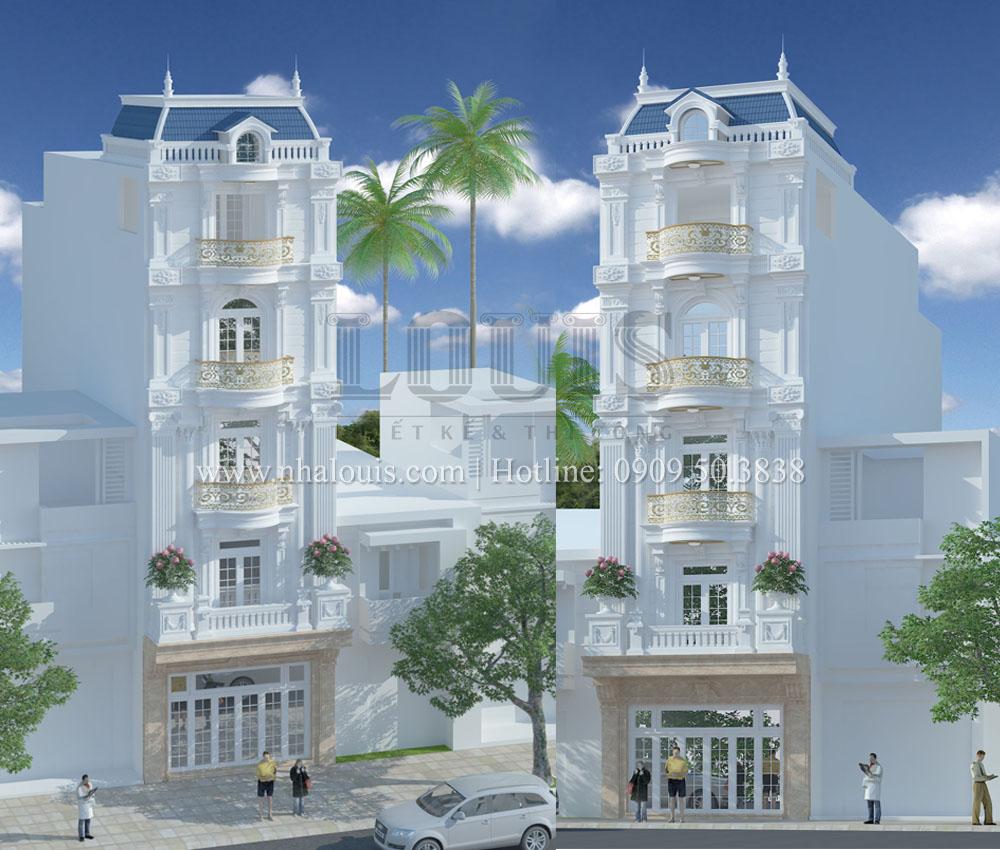 Thiết kế nhà phố 5 tầng mặt tiền 6m đẹp quyến rũ tại Tân Phú